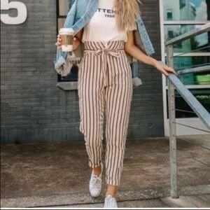 Kittenish Milan highwaisted Stripe Pants